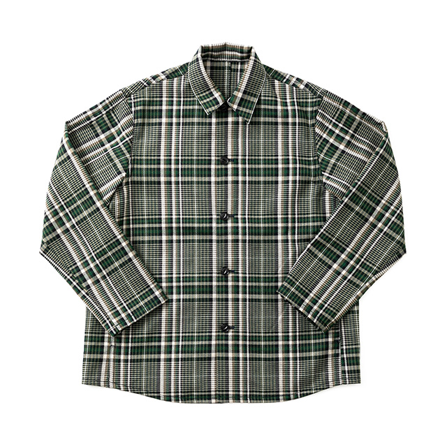 WORSTED WOOL BOX WORK SHIRT