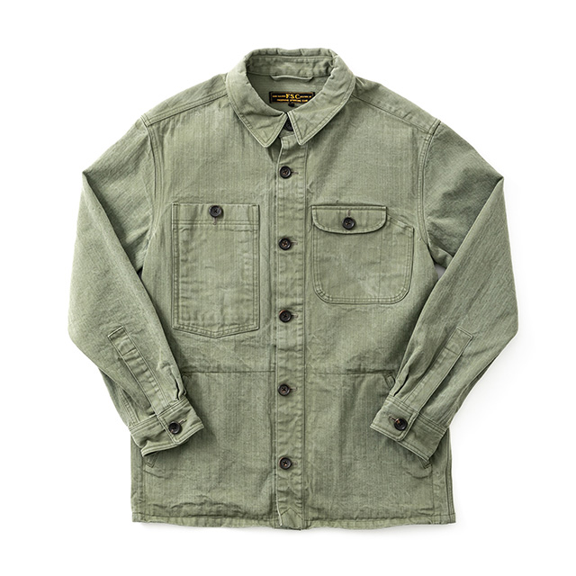 HERRINGBONE JP CAMP SHIRT