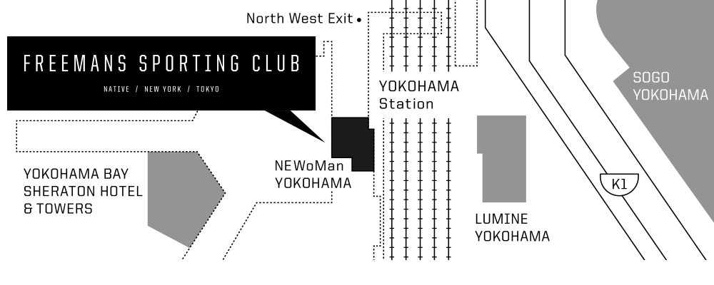 FREEMANS SPORTING CLUB - NEWoMan YOKOHAMA 地図