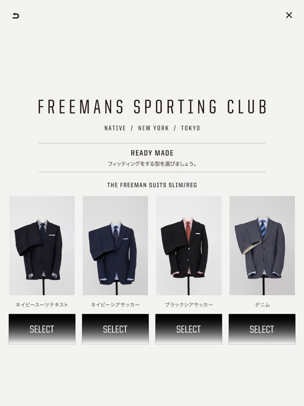 4. Choose types of Ready made suits