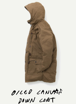 OILED CANVAS DOWN COAT