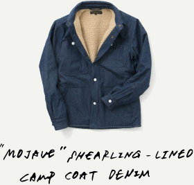 MOJAVE SHEARLING - LINED CAMP COAT DENIM