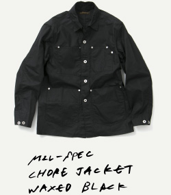 MIL-SPEC CHORE JACKET WAXED BLACK