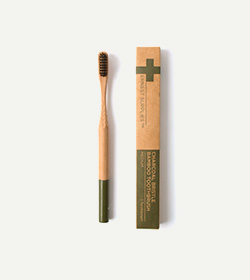 ERNEST SURPPLIES CHARCOAL BRISTLE BAMBOO TOOTH BRUSHES