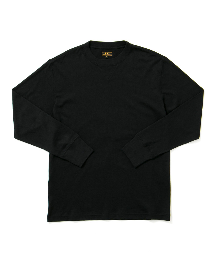 FREEMANS SPORTING CLUB × LOOPWHEELER LONG SLEEVE TEE BLACK