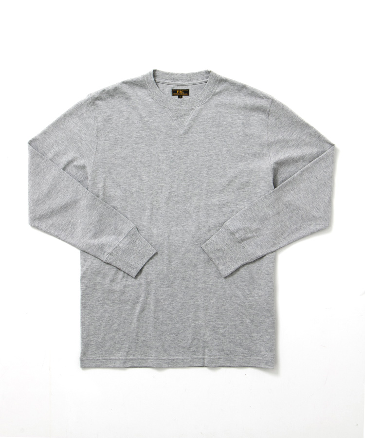 FREEMANS SPORTING CLUB × LOOPWHEELER LONG SLEEVE TEE GREY