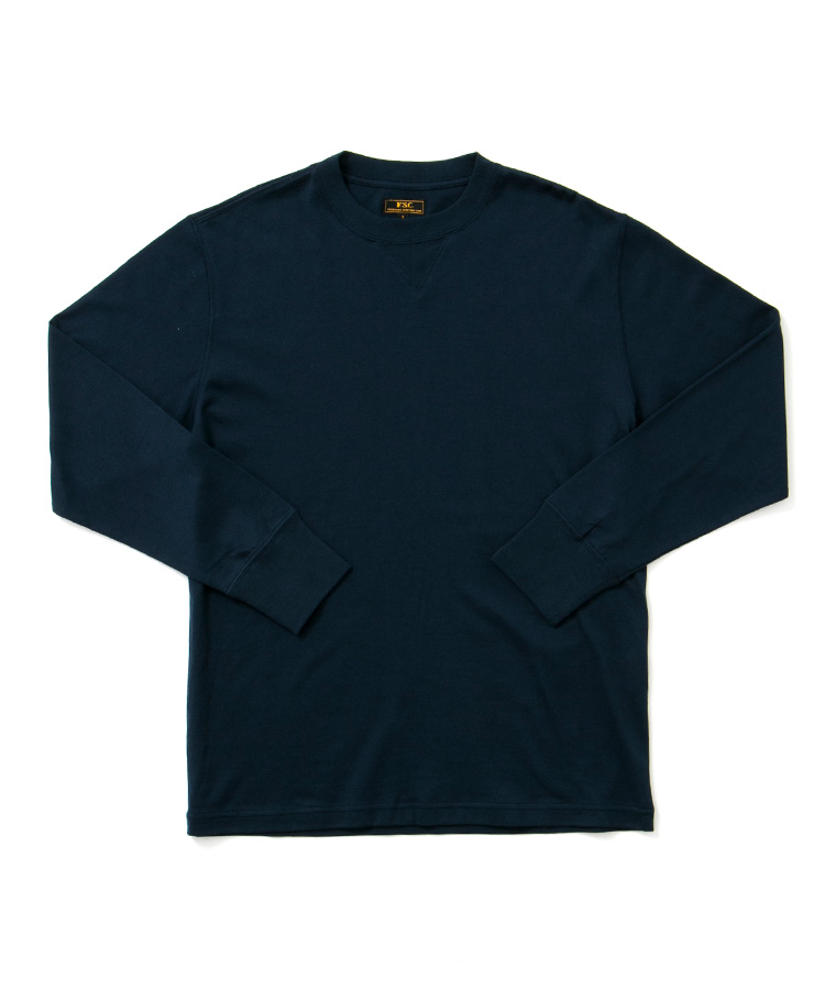 FREEMANS SPORTING CLUB × LOOPWHEELER LONG SLEEVE TEE NAVY