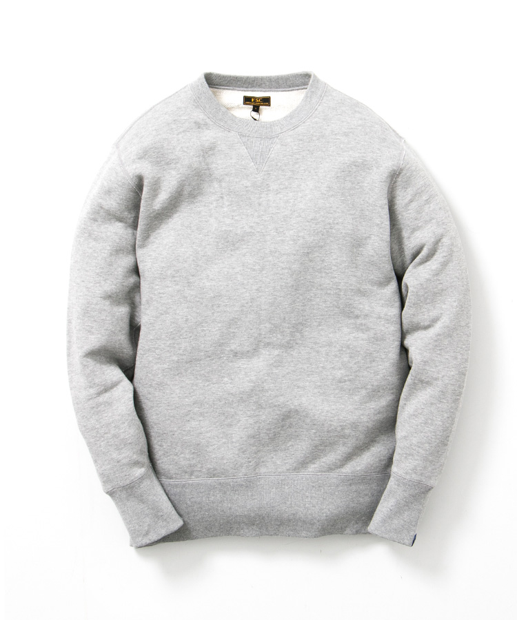 FREEMANS SPORTING CLUB × LOOPWHEELER CREW NECK SWEAT GRAY