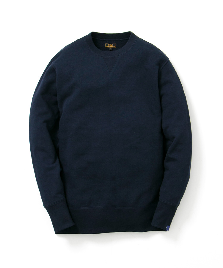 FREEMANS SPORTING CLUB × LOOPWHEELER CREW NECK SWEAT NAVY