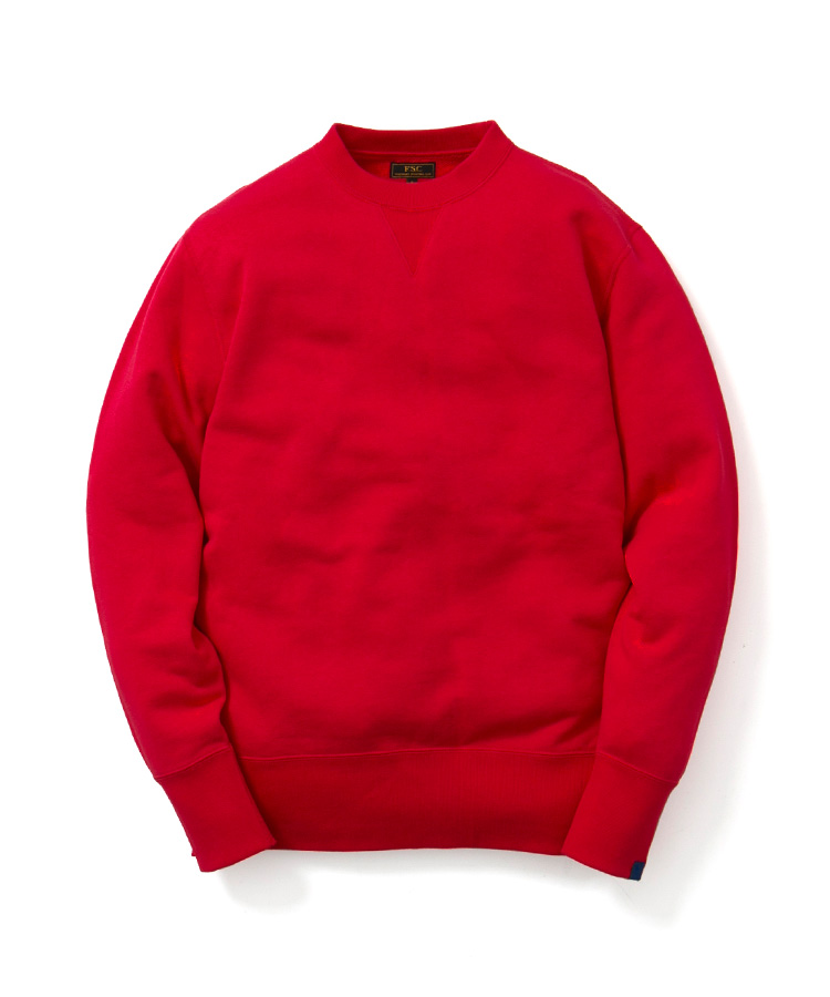FREEMANS SPORTING CLUB × LOOPWHEELER CREW NECK SWEAT RED