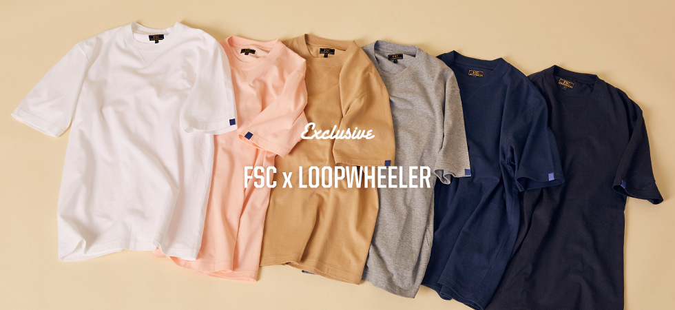FSC x LOOPWHEELER SHORT SLEEVE TEE