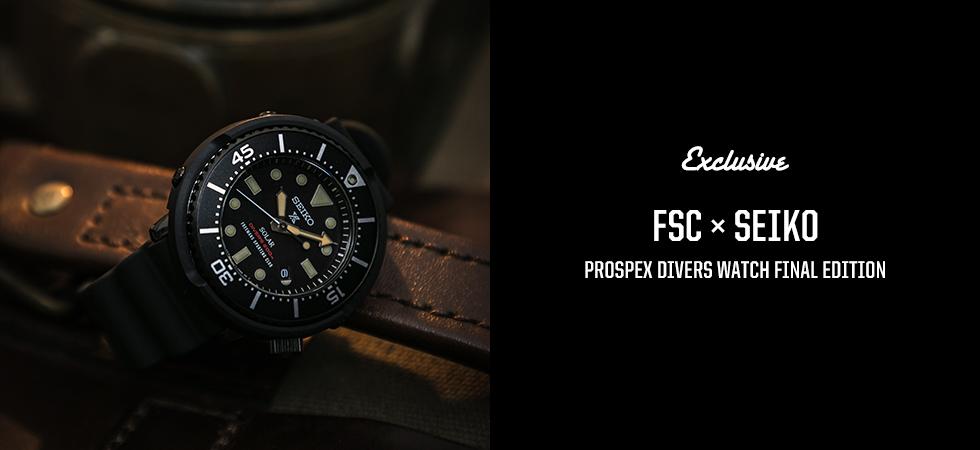 FSC x SEIKO PROSPEX DIVERS WATCH FINAL EDITION